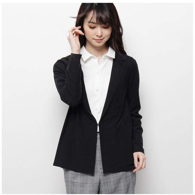 【スマート ピンク/smart pink】 【洗える】ツイルデザインジャケット