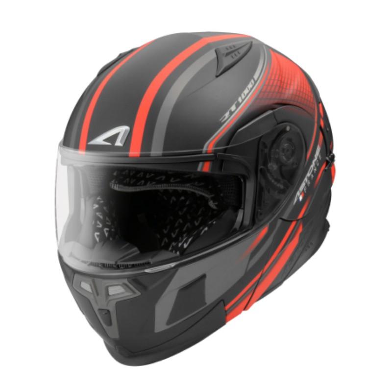 ASTONE RT1000 AB15 消光黑紅 可掀式安全帽 可樂帽 汽水帽 內藏墨片 雙D扣 內襯可拆洗