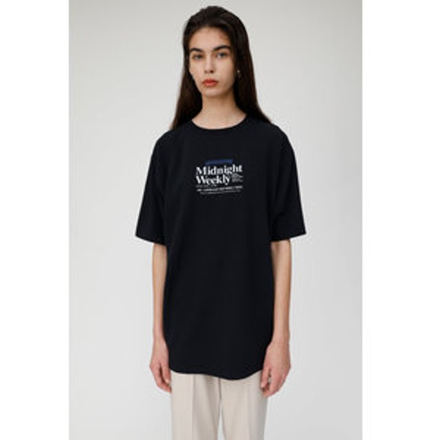 【MOUSSY:トップス】NEWS PAPER AD Tシャツ