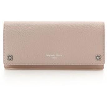 【Samantha Thavasa Deluxe:財布/小物】フラワービジュー かぶせ長財布