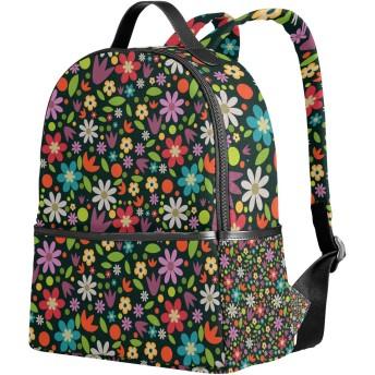 SAMAU リュック レディース 軽量 リュックサック 花柄 大容量 小学生 中学生 高中生 通学 通勤 旅行 多機能