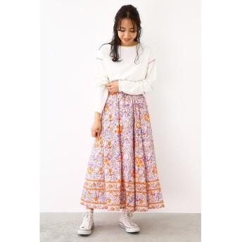 (RODEO CROWNS WIDE BOWL/ロデオクラウンズワイドボウル)small bouquetスカート/レディース 柄PNK5