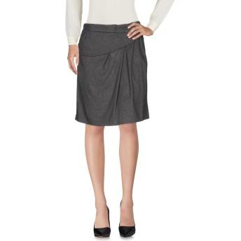 《セール開催中》E_GO' SONIA DE NISCO レディース ひざ丈スカート 鉛色 40 レーヨン 69% / バージンウール 16% / ウール 13% / ポリウレタン 2%