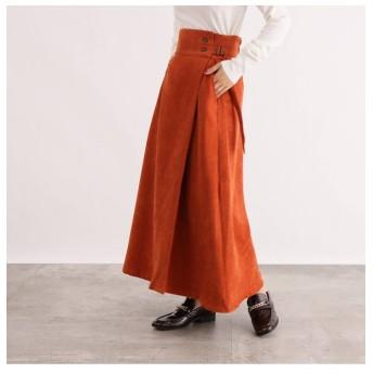 【オゾック/OZOC】 [洗える]細コーデュロイマキシスカート