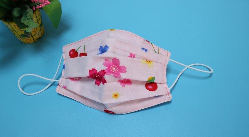 櫻桃四重紗六重紗立體環保口罩  可放濾材布使用 (兒童 ~ 成人)