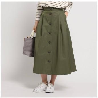 【デッサン/Dessin】 コットンブレンドフレアボタンスカート