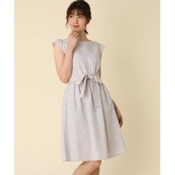 【Couture brooch:ワンピース】【WEB限定サイズ(S・LL)あり/洗える】プチフラワー柄ワンピース