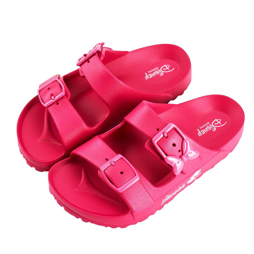 迪士尼童鞋 米妮 經典造型防水休閒拖鞋-桃