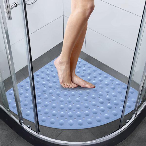 防滑墊大號扇形淋浴房地墊浴室防滑墊洗澡沖涼腳墊酒店衛生間洗手間墊