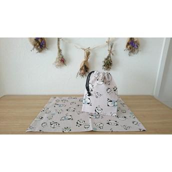 ランチョンマット巾着セット(パンダ)