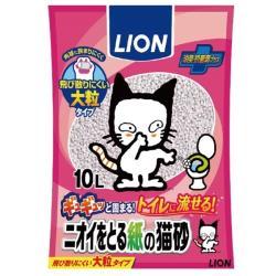 LION 獅王 - 除臭紙砂/紙貓砂 大顆粒設計 10L裝(日本LION)