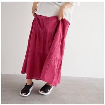 【オゾック/OZOC】 [洗える・インドコットン]ティアードスカート