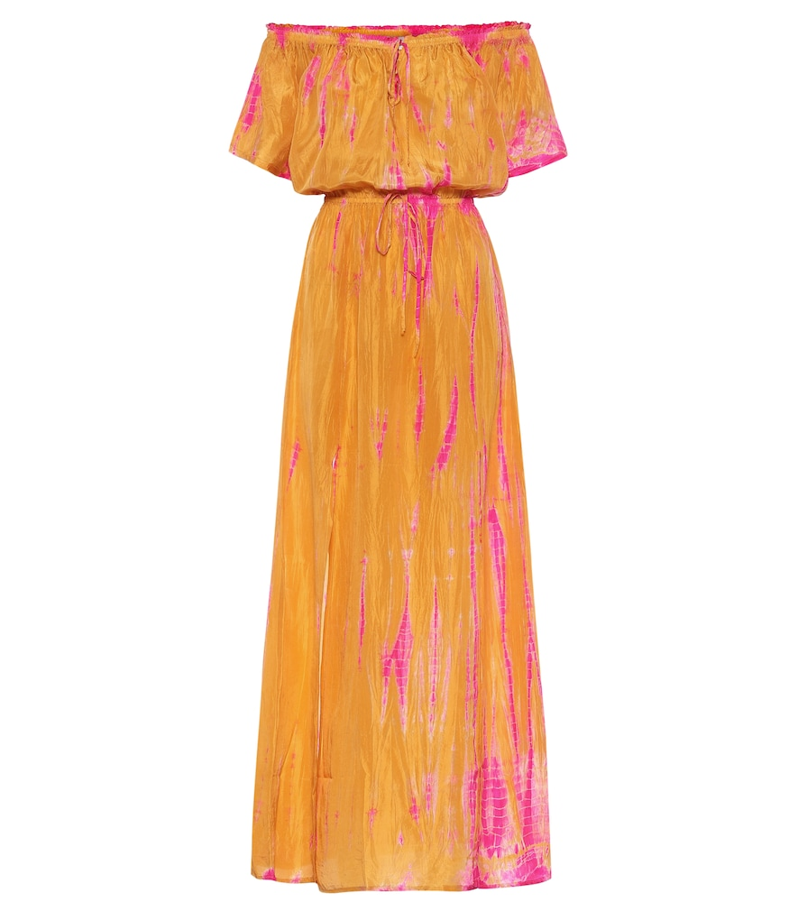 Exclusive to Mytheresa - Tie-dye silk maxi dress