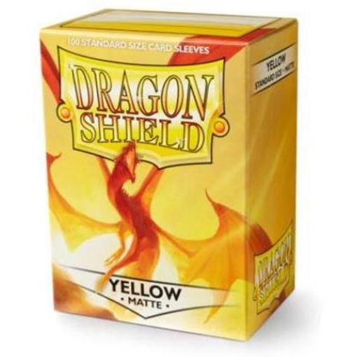 龍盾 磨砂牌套 卡套 黃 Yellow Dragon Shield Sleeves 高雄龐奇桌遊
