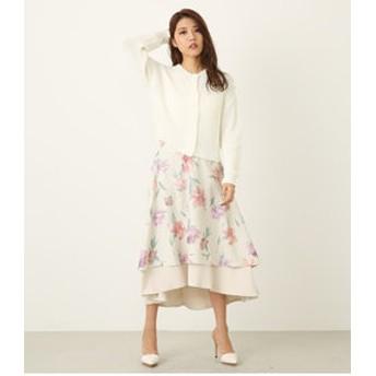 【rienda:スカート】Color flowerリバーシブルJ/WフレアSK