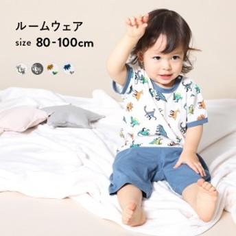 子供服 ルームウェア 男の子 女の子 ボーイズルームウェア ベビー キッズ パジャマ セットアップ  M1-1 80cm 90-95cm 100cm