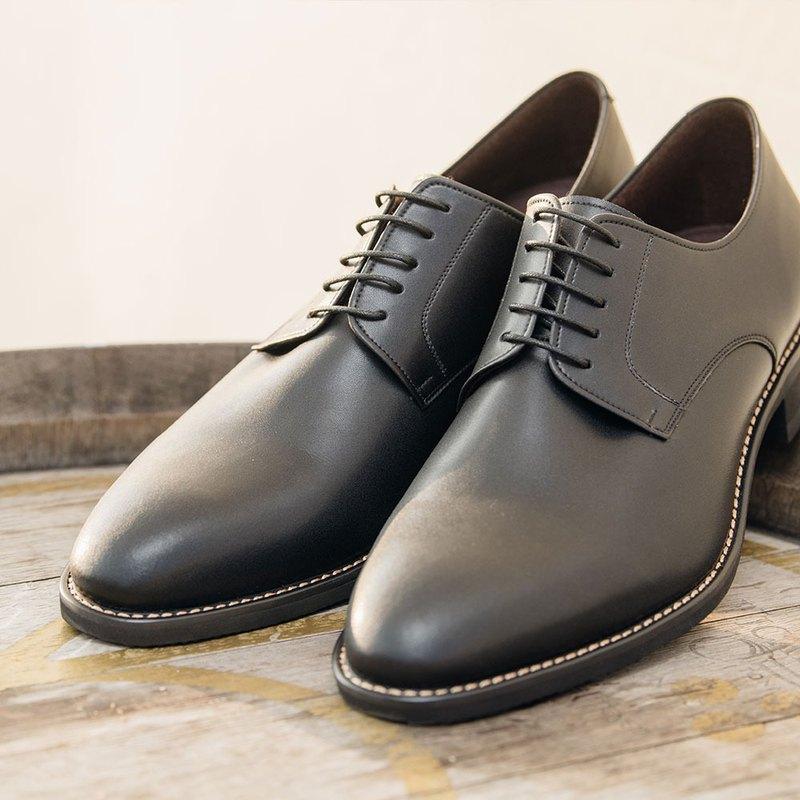 Gullar簡約素面德比-素食皮鞋(黑色)