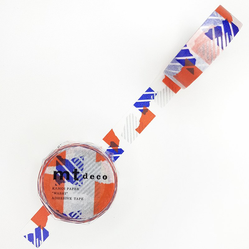 mt Deco 和紙膠帶 / 拼布 - 藍x橘 (MT01D446) / 2020SS