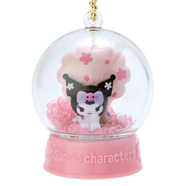 【酷洛米 水晶球吊飾】酷洛米 櫻花 水晶球吊飾 三麗鷗 日本正版 該該貝比日本精品