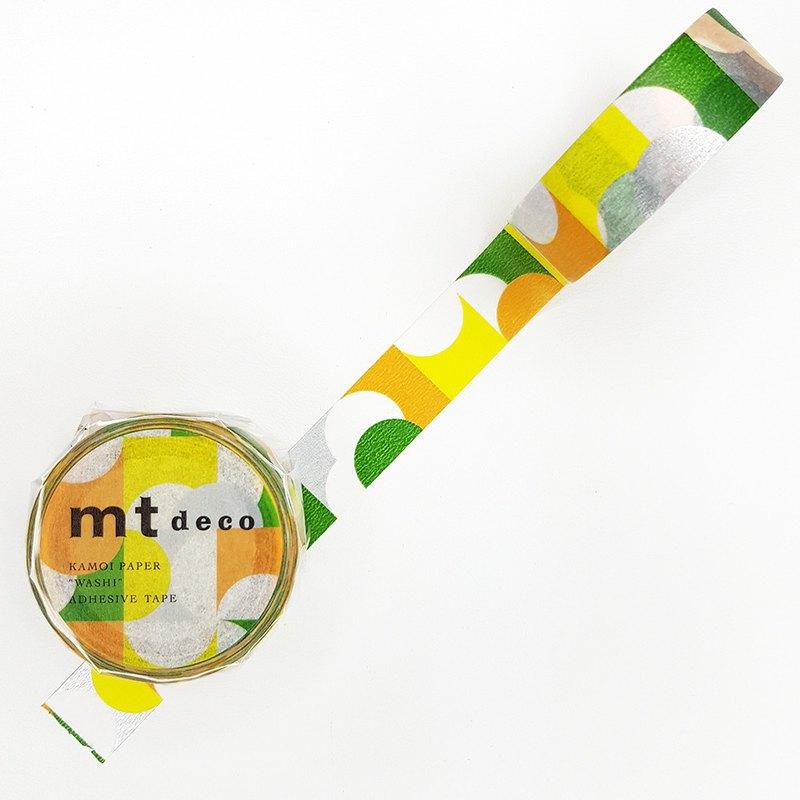 mt Deco 和紙膠帶 / 半圓-黃x綠 (MT01D456) / 2020SS