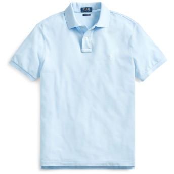 《セール開催中》POLO RALPH LAUREN メンズ ポロシャツ スカイブルー XS コットン 100% SLIM FIT MESH POLO SHIRT