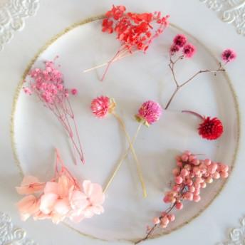【送料無料】 ピンク花材 ドライフラワー プリザーブドフラワー