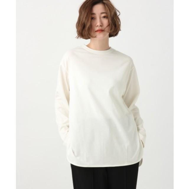 【アパートバイローリーズ/apart by lowrys】 ギザコットンラウンドロングTシャツ