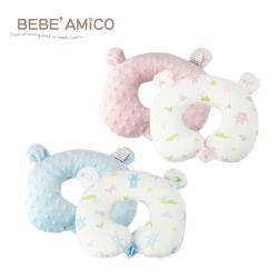 Bebe Amico-動物日記-貝貝豆雙面造型頸枕-2色