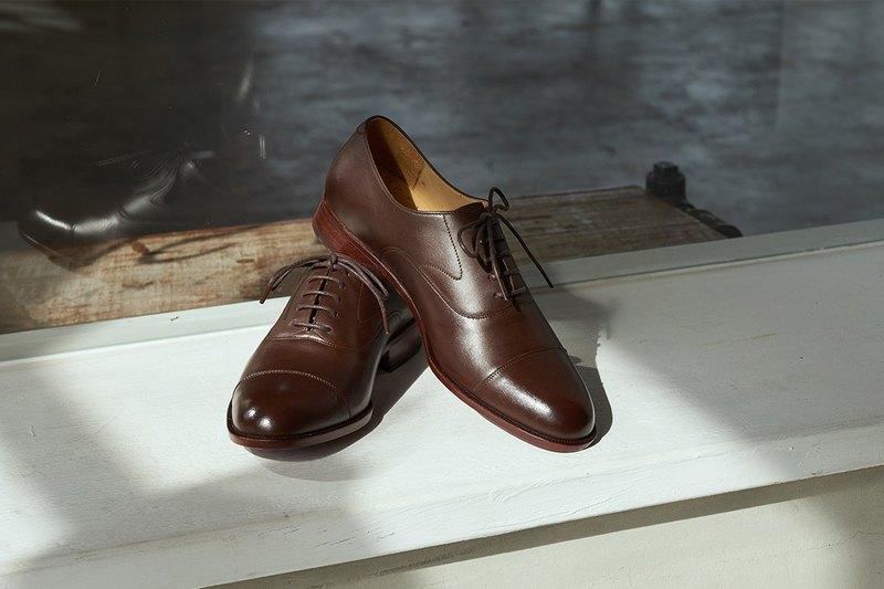鵝頸橫飾牛津皮底鞋 渲染咖 紳士鞋 牛津鞋 皮鞋 男