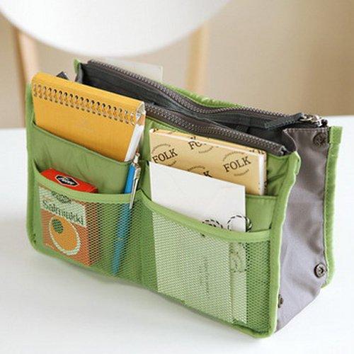 韓版加厚多功能手提雙拉鍊收納整理包中包
