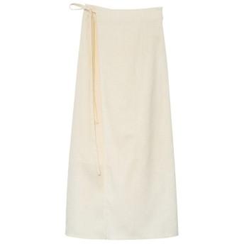 リエディ Re: EDIT ウエストリボンラップナロースカート (アイボリー)