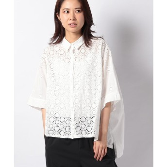 MARcourt 【mizuiro ind】front lace shirt(OFFWHITE1)