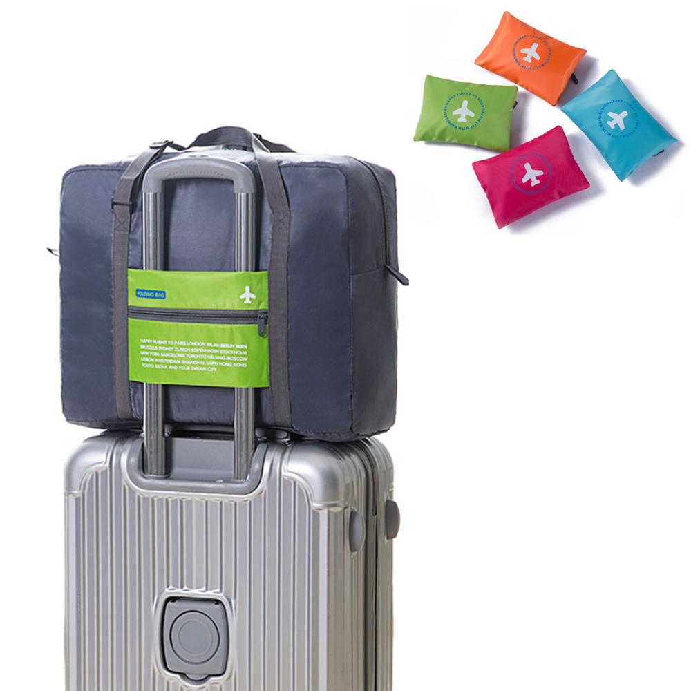 PUSH!旅遊用品防水尼龍折疊收納袋大容量旅行衣服收納包行李包S76
