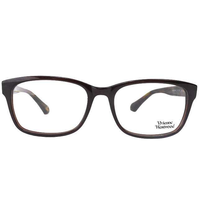 【Vivienne Westwood】英國經典品牌文字款光學眼鏡(咖啡/琥珀) VW355V-02