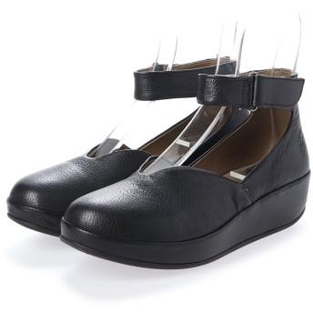 ヨーロッパコンフォートシューズ EU Comfort Shoes FLYLONDON サンダルパンプス(500.785) (ブラック)