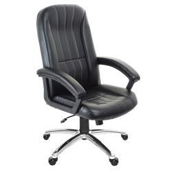 GXG 高背皮面 電腦椅 (鋁合金腳座/防刮輪) TW-1009 LU