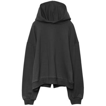 リエディ Re: EDIT 裏毛バックスリットパーカー (ブラック)