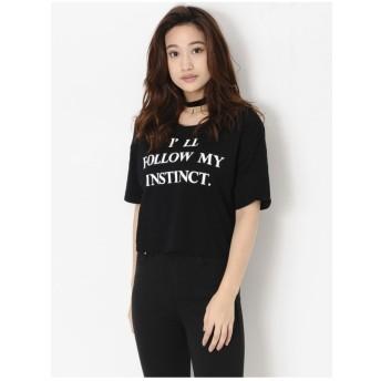 EGOIST レタリングショートTシャツ ブラック