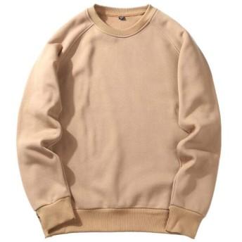 緩いセーターレトロの女性のセーターラウンドネックトップファッション長袖のカジュアルなセーター (Color : 02, Size : L)
