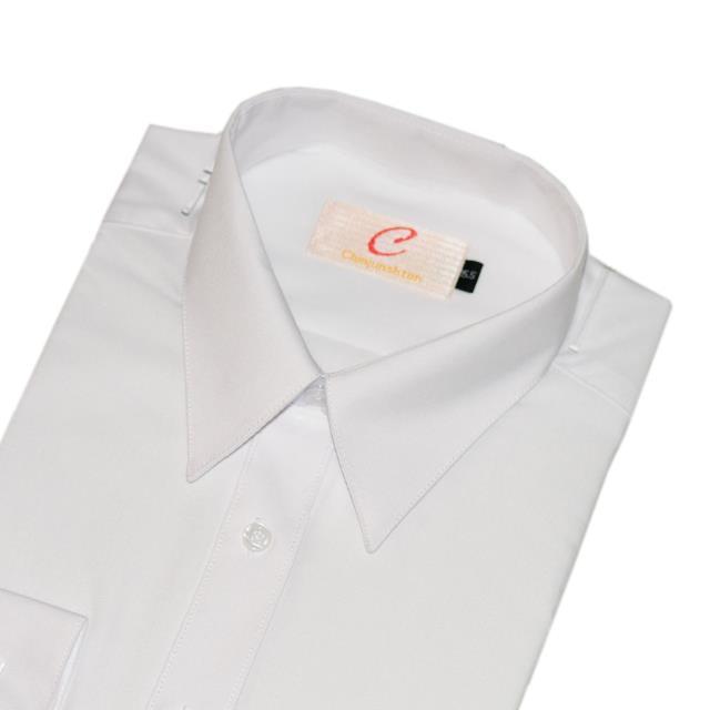 CHINJUNSHTON 細纖維抗皺襯衫、素色白