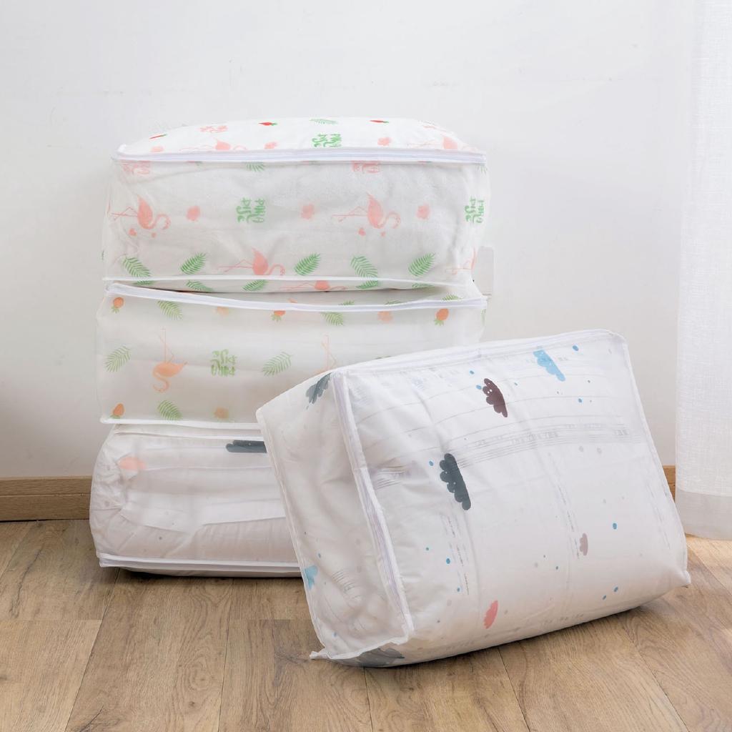 【現貨】居家家印花棉被袋被子收纳袋家用装衣服的袋子大号防潮被子被褥整理袋收納袋 收納盒 衣物收納袋 棉被袋衣物袋 整理袋
