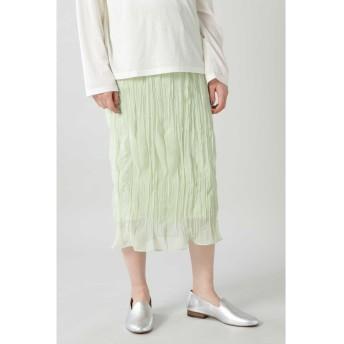ランダムギャザースカート ライトグリーン