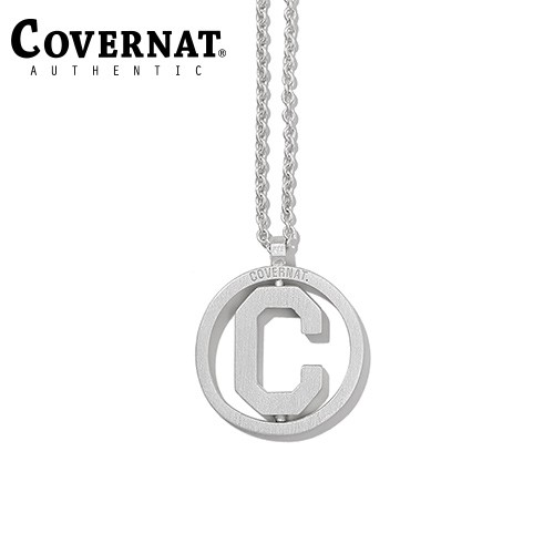 [COVERNAT] 20SS SIVLER C LOGO ROUND NECKLACE SILVER