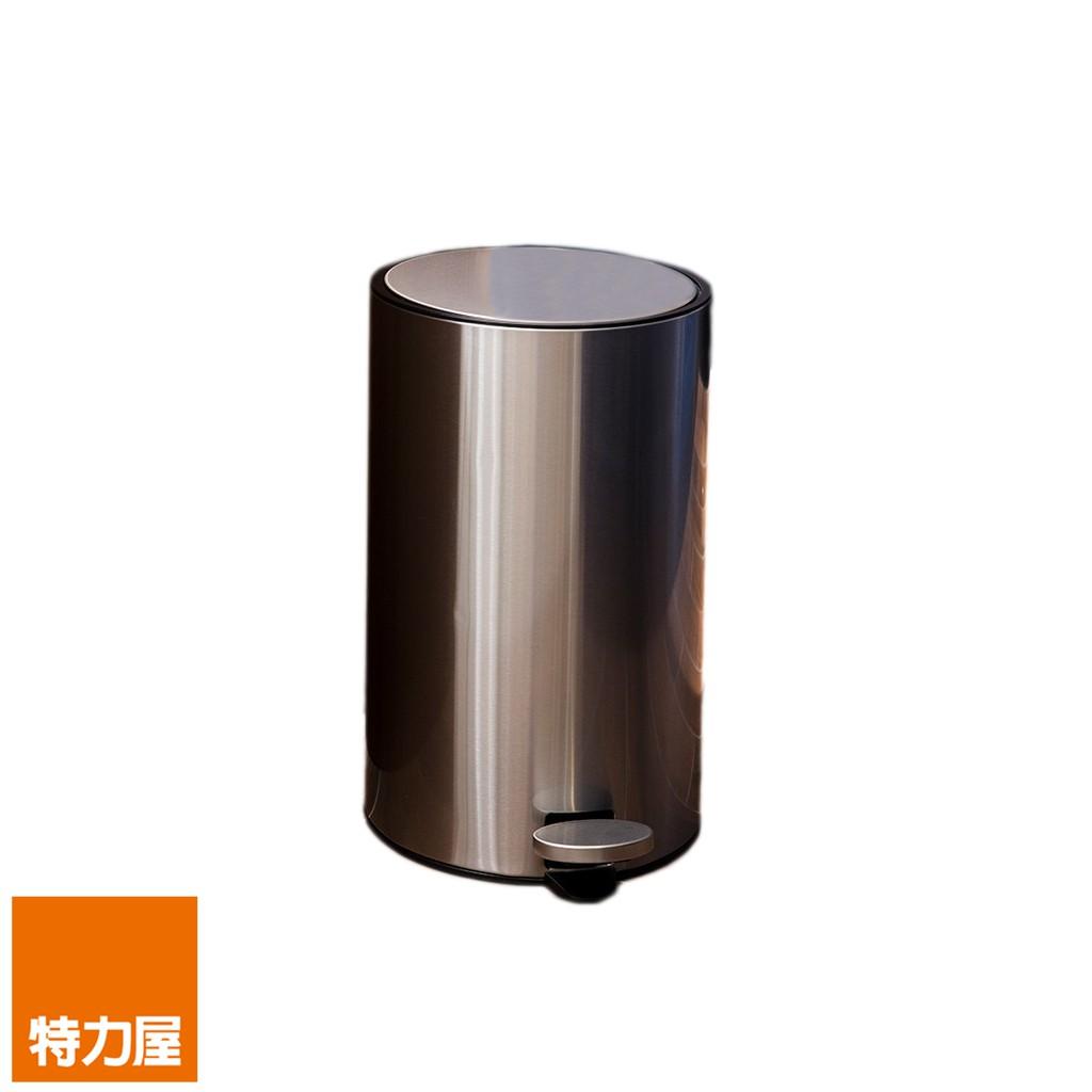 HomeZone里德緩降踏式垃圾桶12L-不鏽鋼