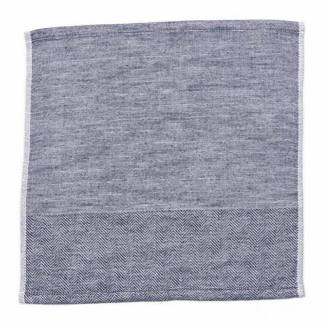 伊織海洋印度棉方巾/ 海軍藍