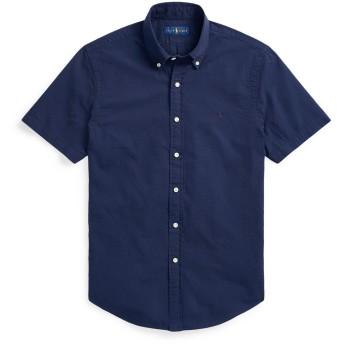 《セール開催中》POLO RALPH LAUREN メンズ シャツ ダークブルー XS コットン 100% CUSTOM FIT SEERSUCKER SHIRT