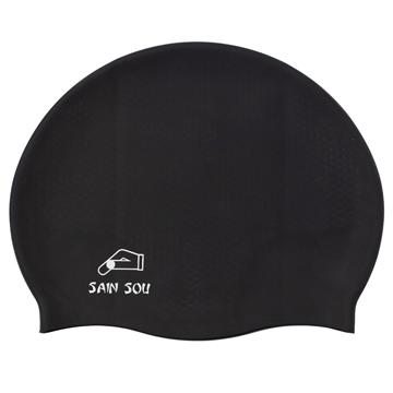 聖手牌 黑色矽膠泳帽 A35001-01
