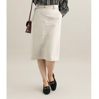 【ビス/ViS】 【MACHINE WASHABLE】 エコスエードタイトスカート