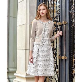 ミス ジェイ LINTONツィード ドレス レディース ホワイト 38 【MISS J】