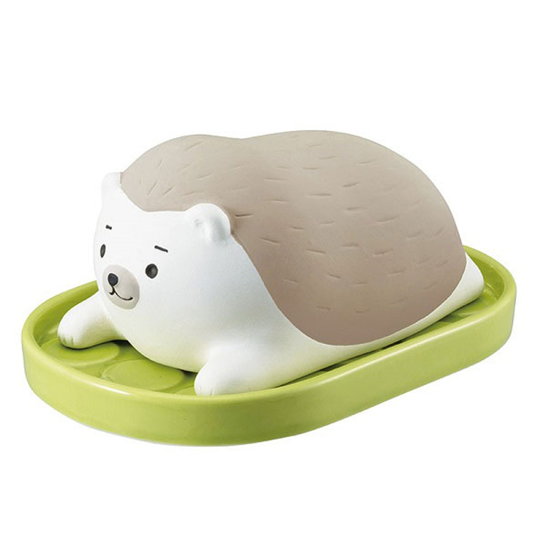 日本 DECOLE - 療癒環保除濕擺飾(可重複使用)-懶洋洋 刺蝟